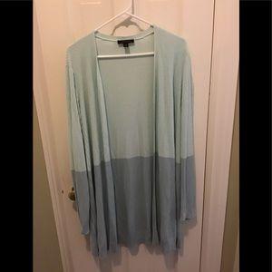 Ann Taylor color block cardigan size xl